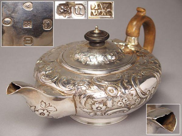 銀製ティーポット