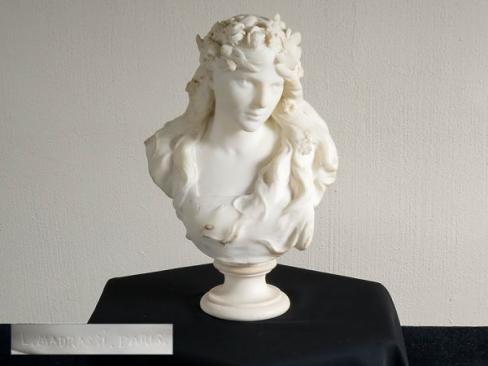 彫刻家 Luca Madrassi作 大理石 胸像