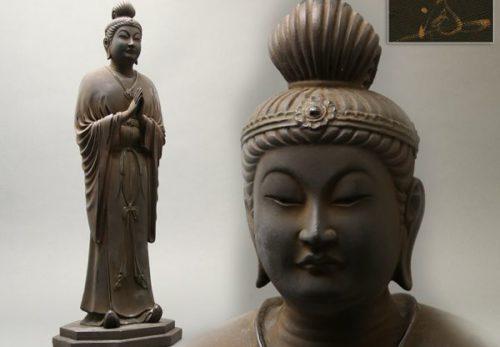 仏教美術 彫刻家 細谷而楽作 乾漆 仏陀 仏像