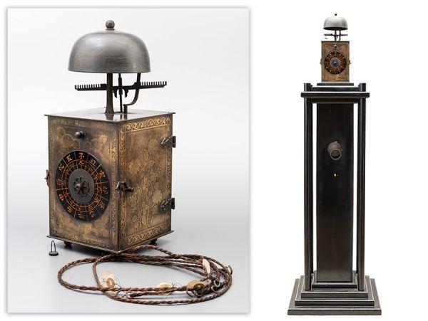 【時代の逸品 大名時計】一挺天符 和時計 錘・台座付属