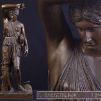 フランス人金工家【Ferdinand Barbedienne】作 ブロンズ 女性像 高さ82cm