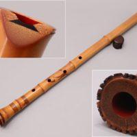 和楽器奏者特注品【素川欣也】作 琴古流 竹尺八 延管 内朱塗