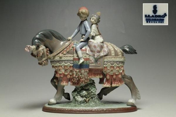 LLADROリヤドロ「少年少女の行進」 置物 絶版品1489