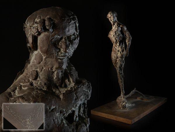西洋彫刻 在銘 ブロンズ 裸婦像