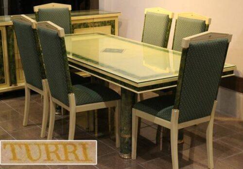 イタリア高級家具TURRI ダイニングセット テーブルイス6脚